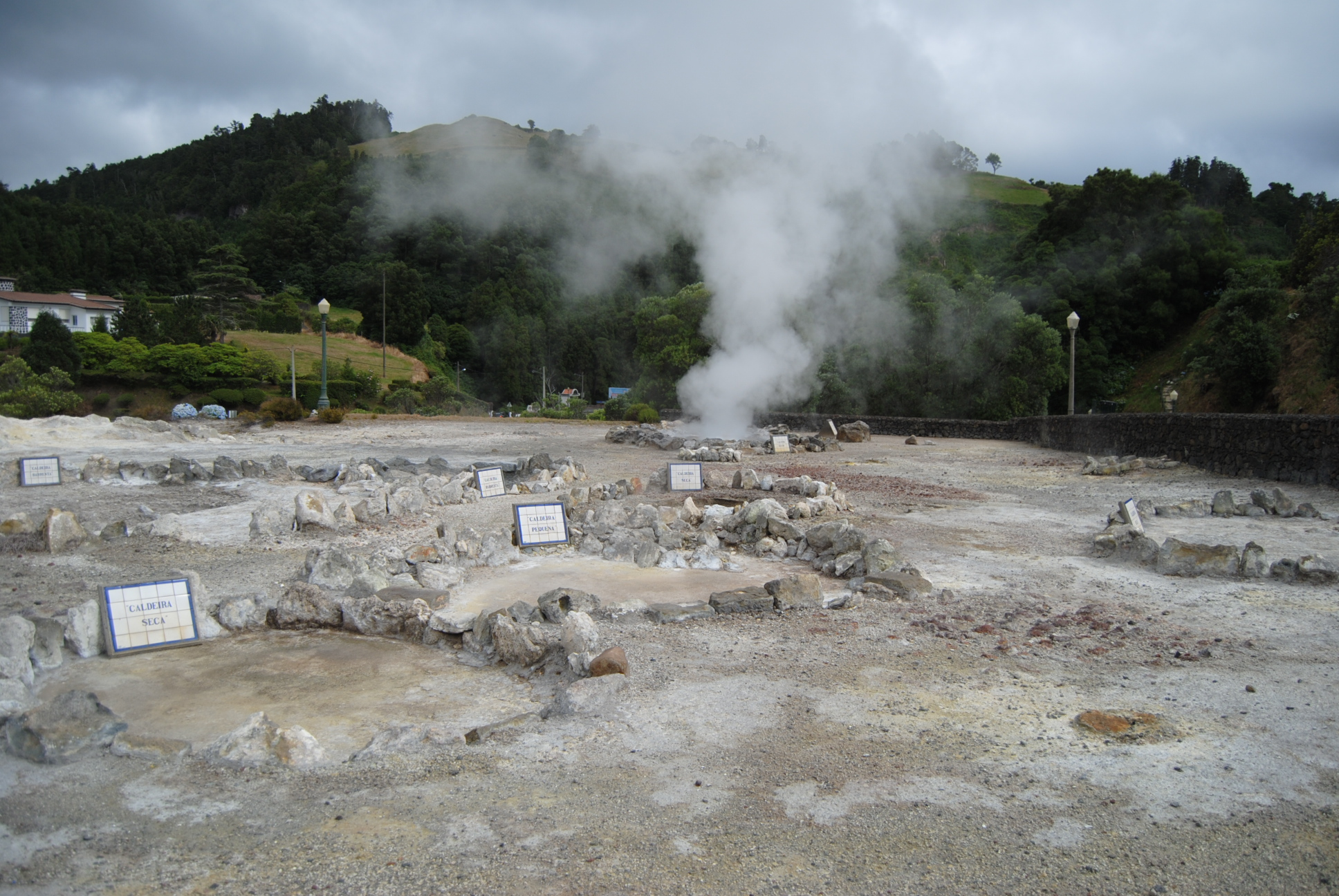 Fumaroles in Furnas village